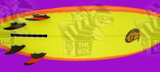 OUT OF THE THE BOX - 6.1  DOUBLE ENDER  6.1 x 21 x2 11/16  35.5 This board was a chop down of one of my Little Pirate models. It has a...